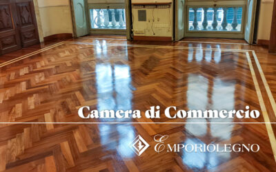 Ripristino parquet Camera di Commercio di Genova